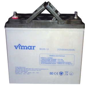 Гелевый аккумулятор Vimar BG55-12 12В 55АЧ